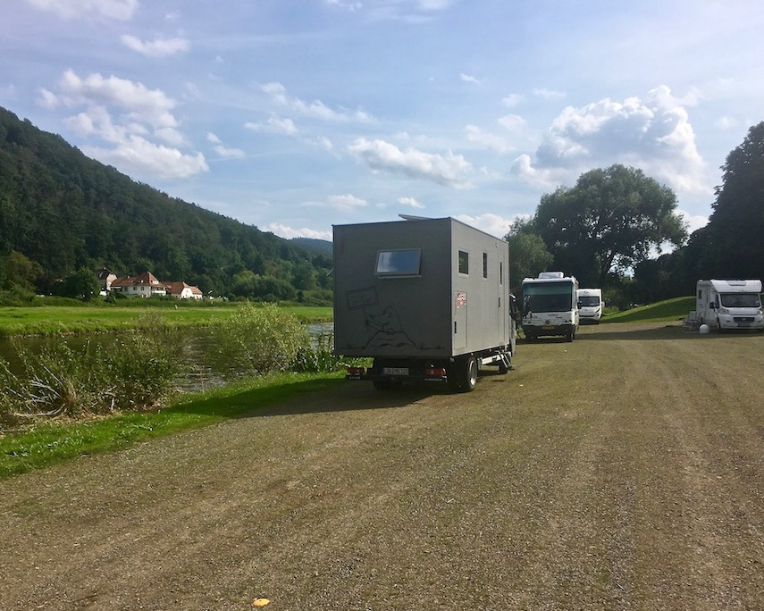 Wohnmobilstellplatz Bodenwerder Weser Deutschland