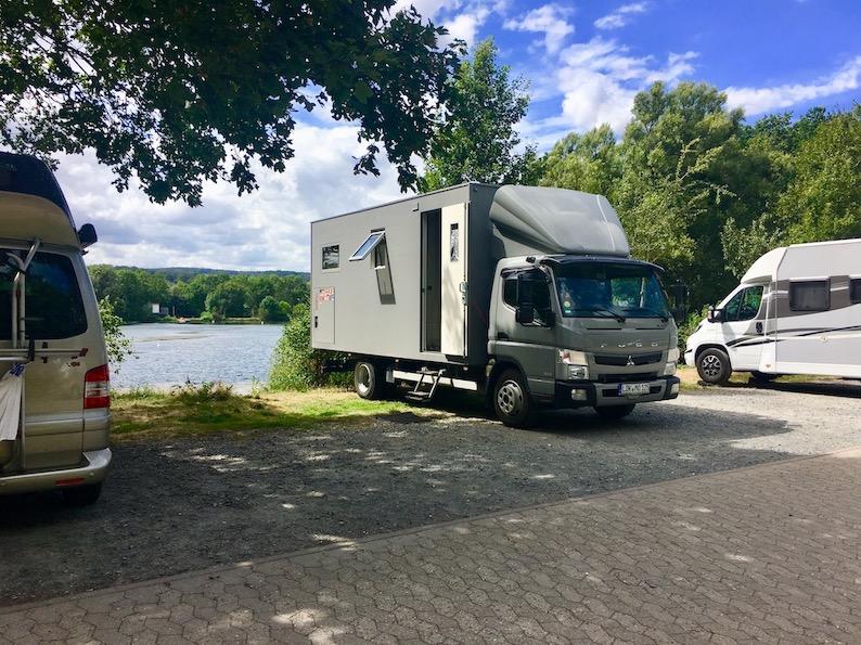 Wohnmobilstellplatz am Hohnsensee mit mole-on-tour Hildesheim Deutschland