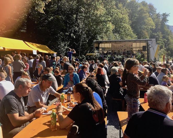 Alpabtrieb 2019 Dornbirn mit Blaskapelle und Gaudi