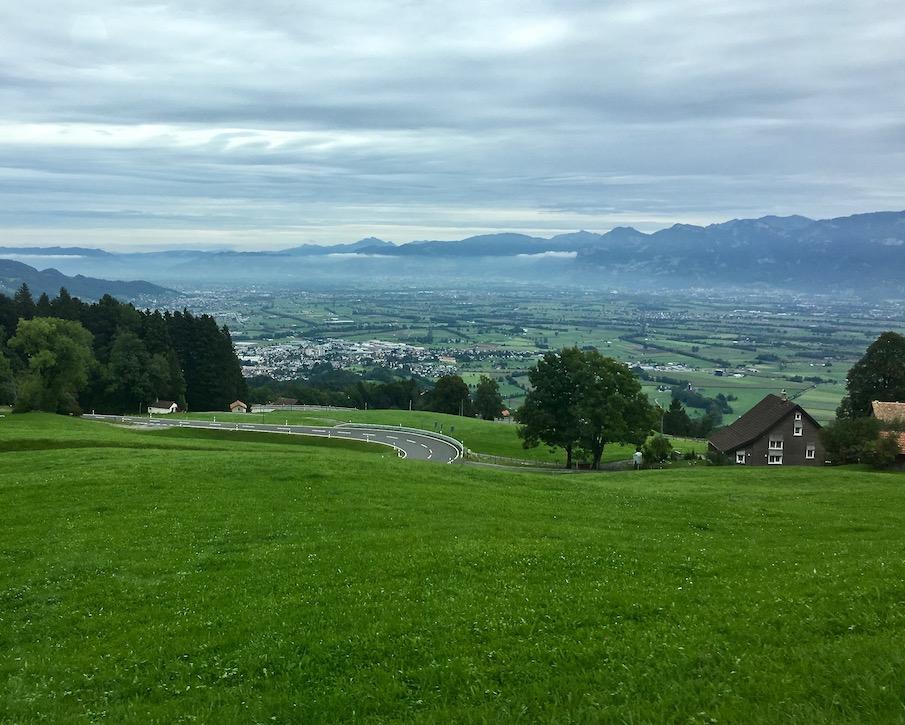 Anfahrt ins Rheintal
