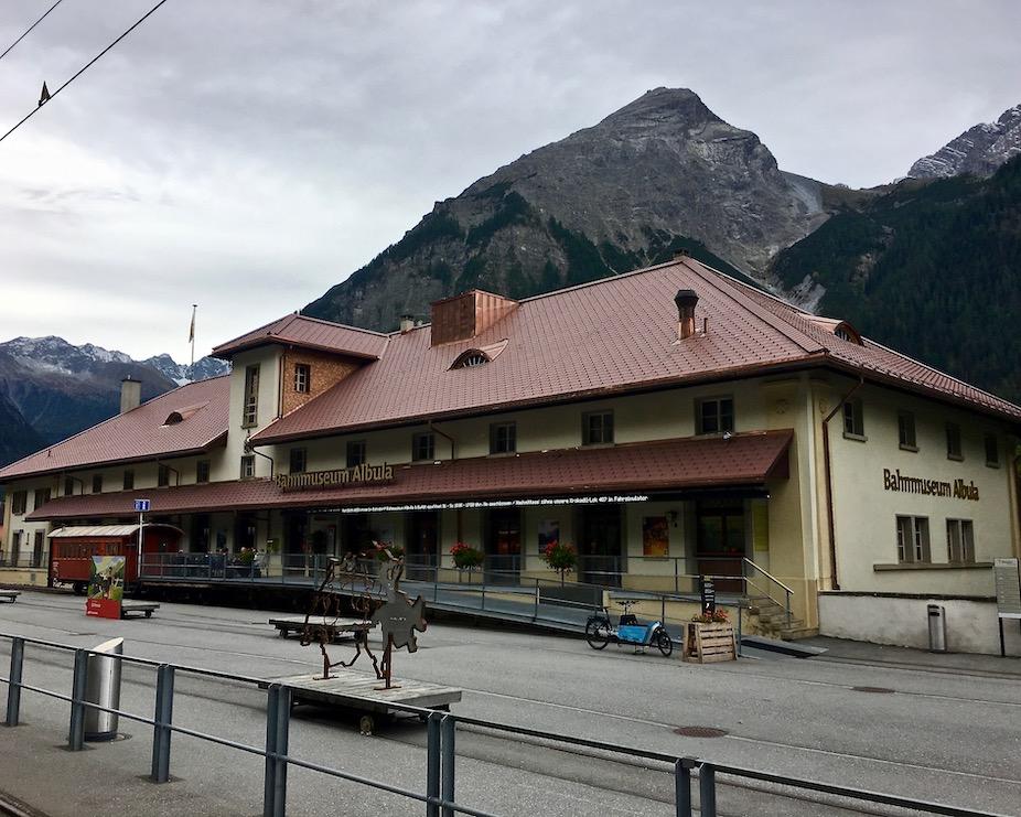 UNESCO-Weltkulturerbe Rhätische Bahn Graubünden Schweiz Bahnmuseum Albula Bergün Schweiz