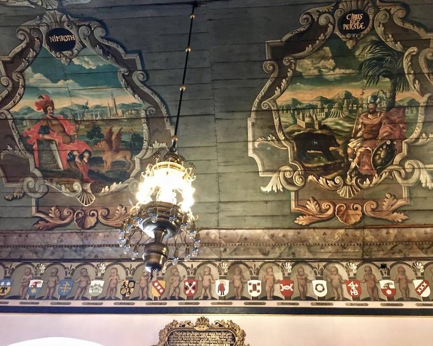 Barockmalerei am Tonnengewölbe Rathaus Mühlhausen Thürigen