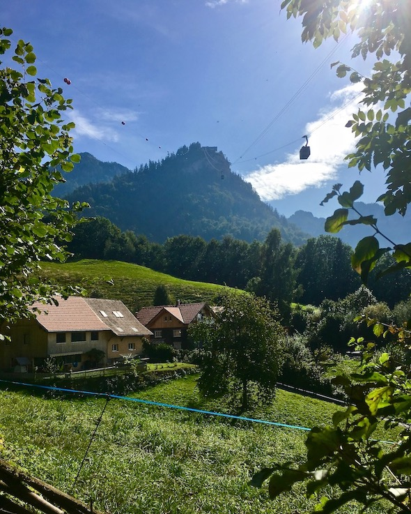 Blick vom Bürgele auf den Karren Dornbirn Österreich