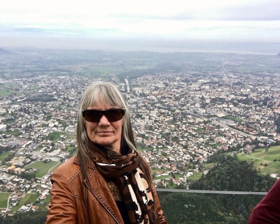 Blick zum Bodensee auf der Karrenkante Dornbirn Österreich