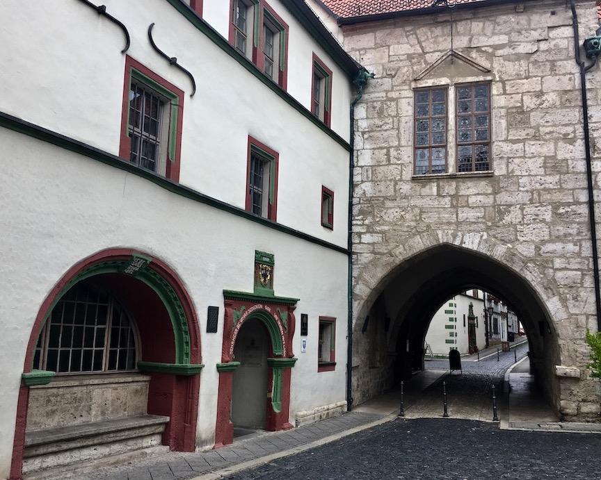 Eingang altes Rathaus Mühlhausen:Thüringen