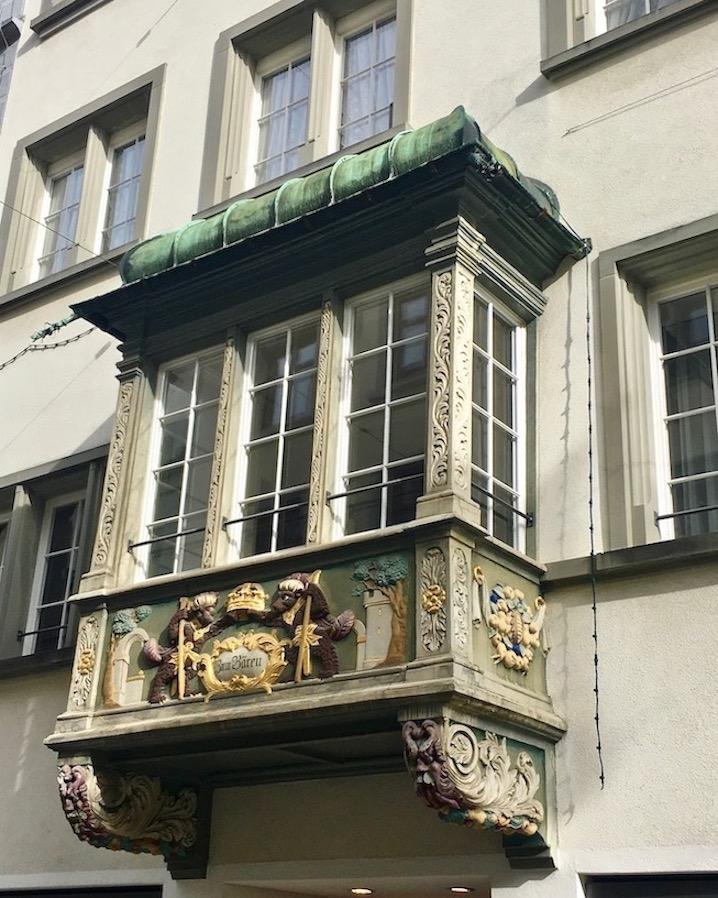 Erker an Hausfasade St.Gallen Schweiz
