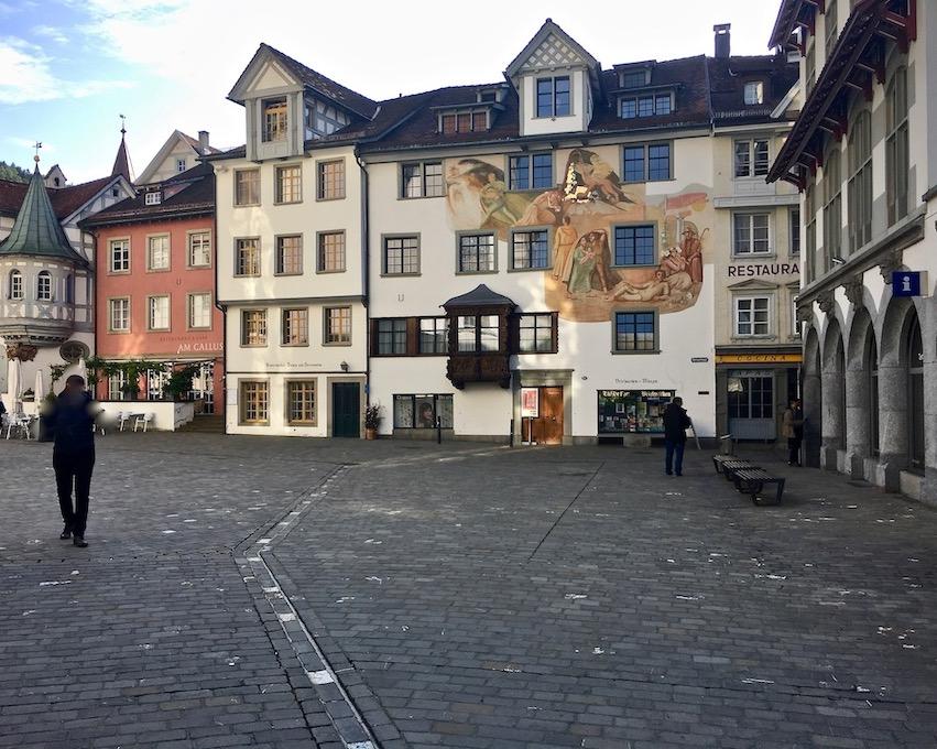 Häuser mit Erkern in St.Gallen Schweiz