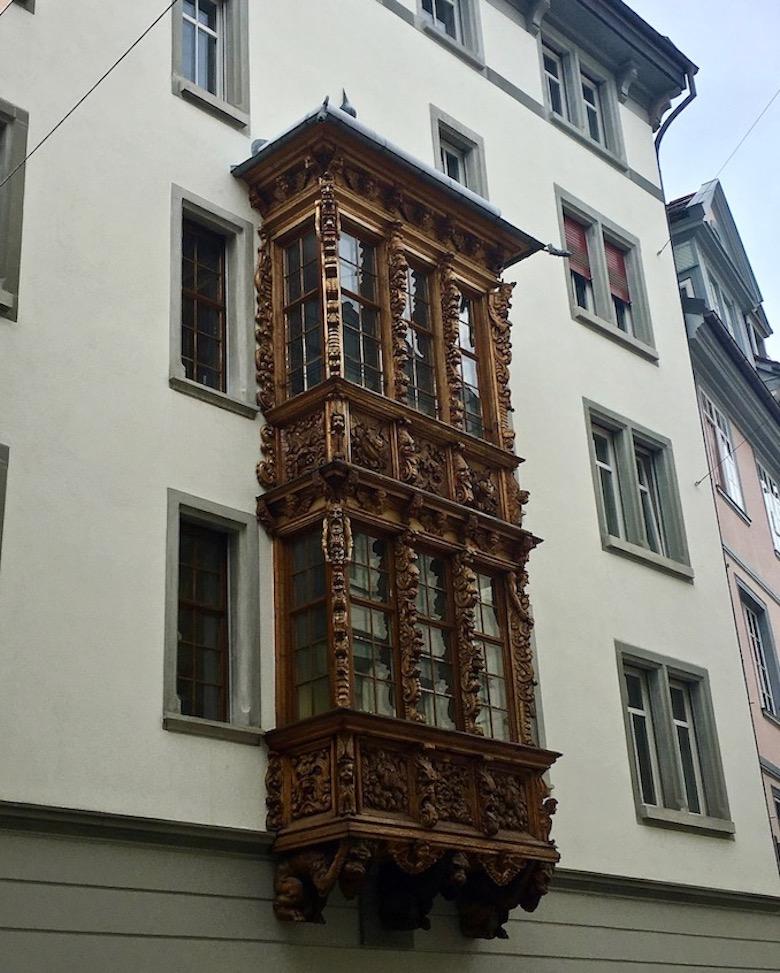 Hausfasade mit Erker St.Gallen Schweiz
