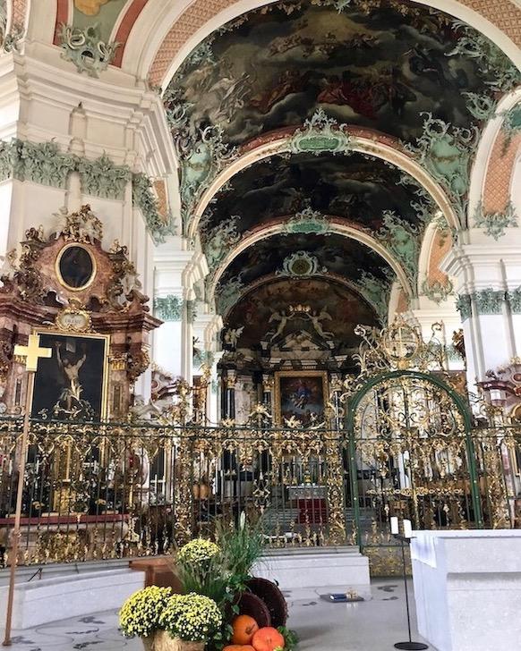 Innenraum Stiftskirche Kathedrale St.Gallen Schweiz Weltkulturerbe