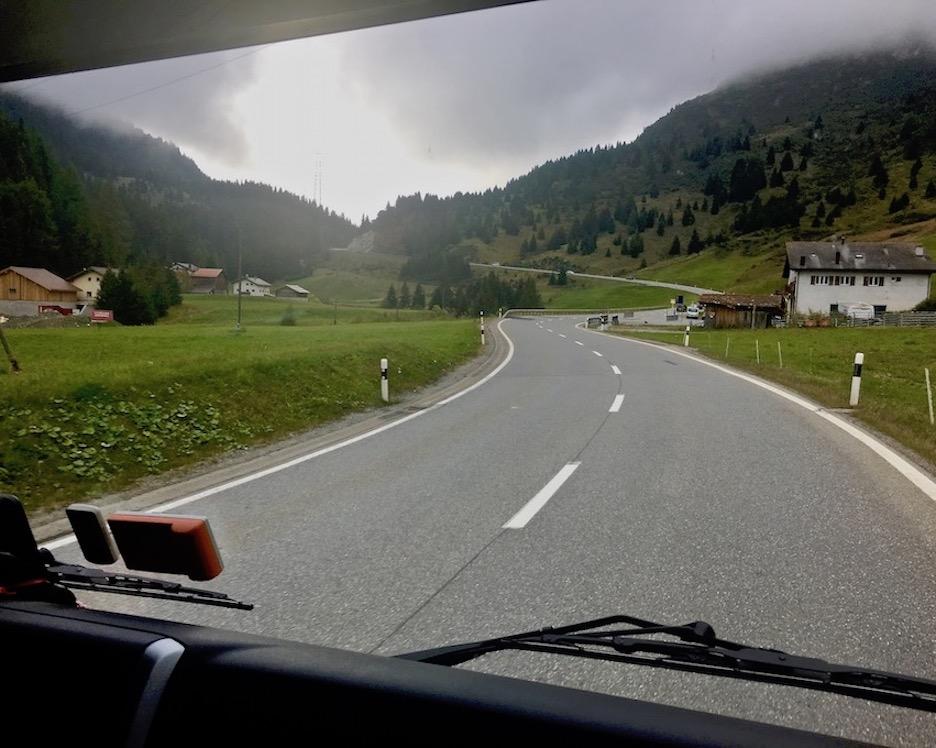 Julier Pass Schweiz Flach