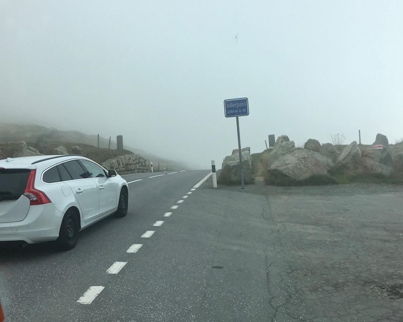 Julier Pass Schweiz Kuppe