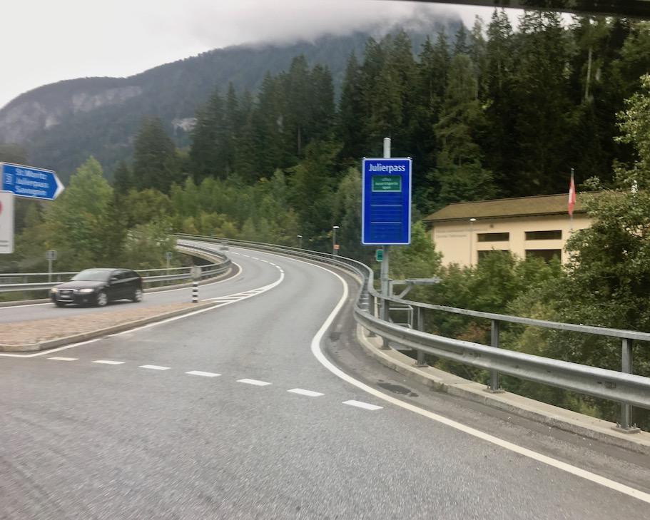 Julierpass Schweiz Anfang