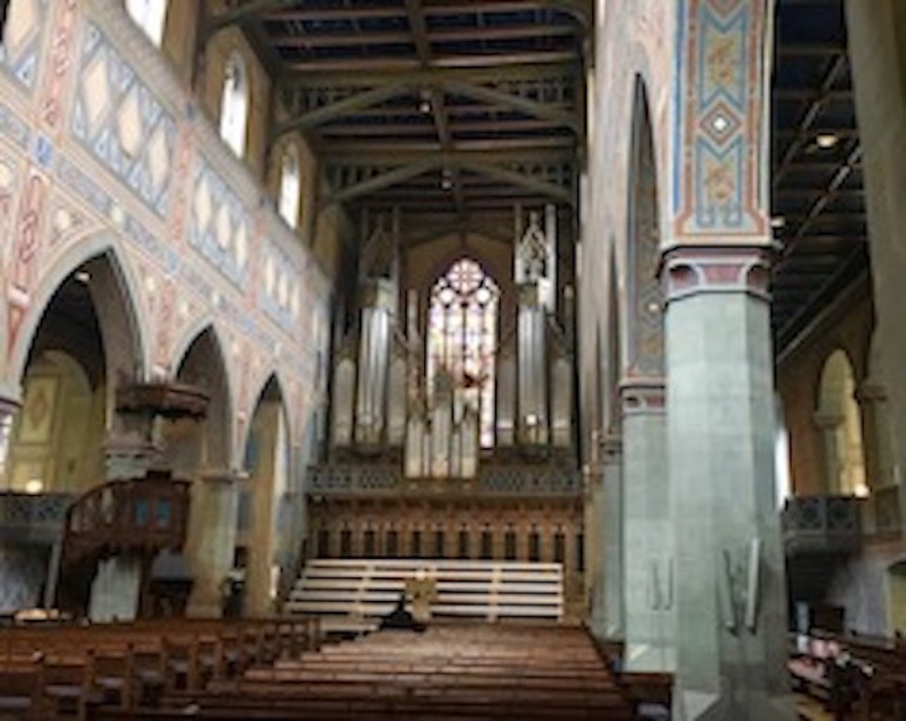 Kirche St.Laurenzen St.Gallen Schweiz Innenraum