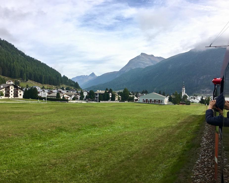 Landschaft um Samedan Schweiz