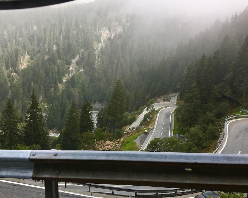 Maloja Pass Schweiz Spitzkehren