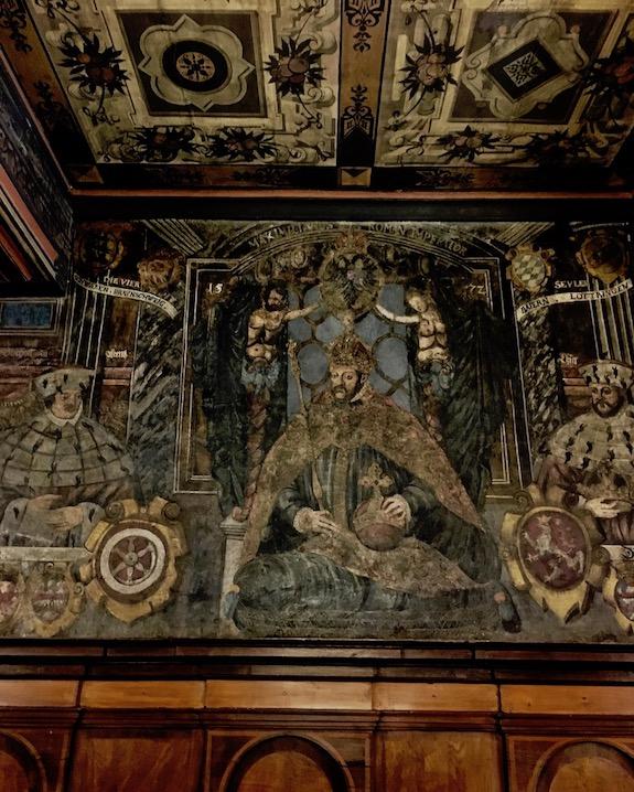 Rathaus Mühlhausen Thüringen Große-Ratsstube Renaissancemalereien