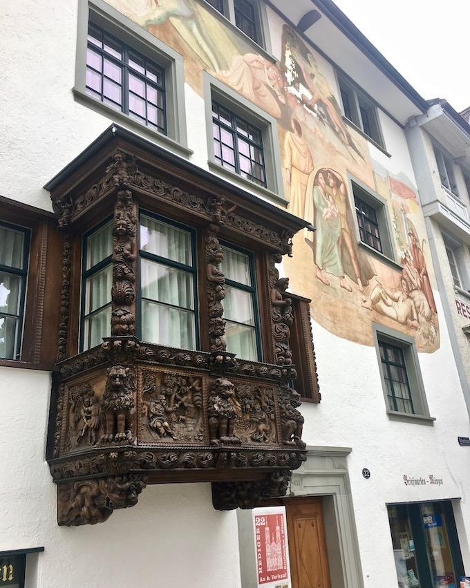 Reich-verzierter-Erker St.Gallen Schweiz