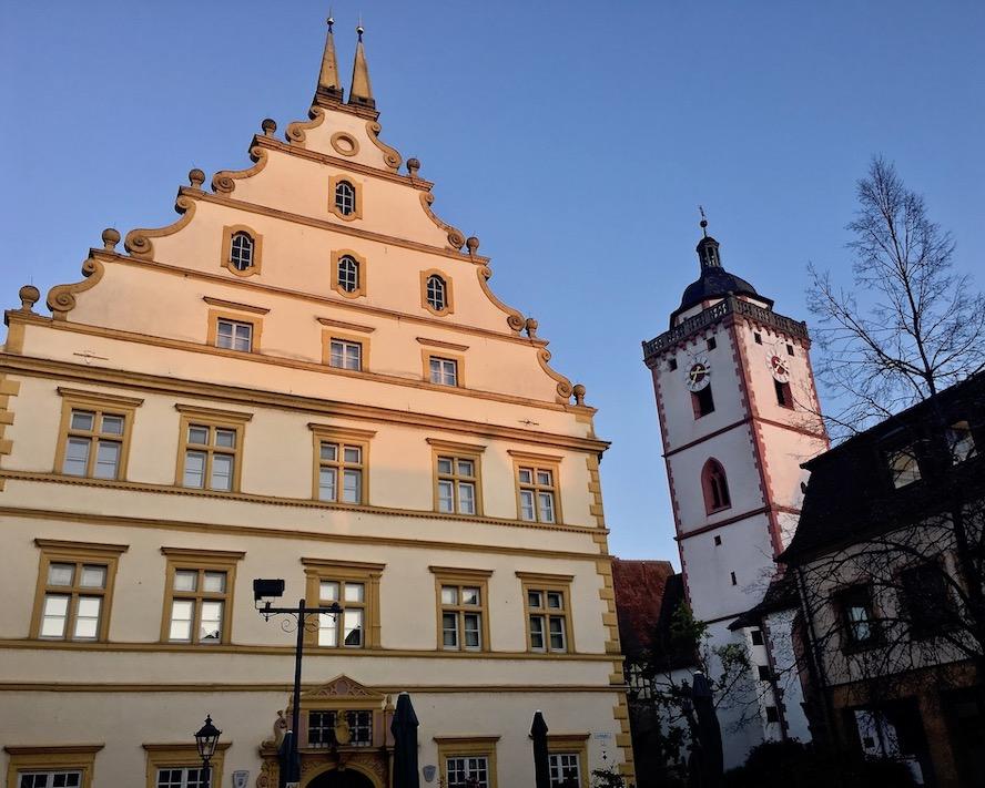 Schloß und St.Nikolai-Kirche in Marktbreit am Main