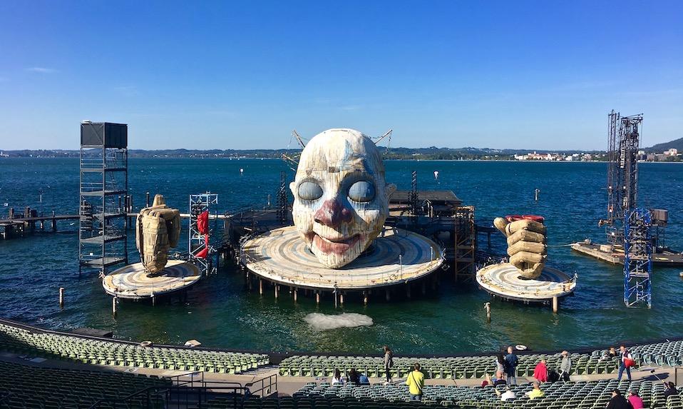Seebühne Bregenz am Bodensee Rigoletto-Bühnenbild