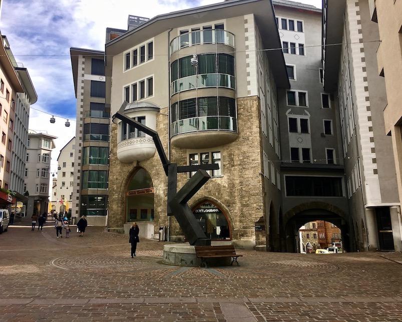 St.Moritz Schweiz Strasse Via dal Vout Einkaufsmeile