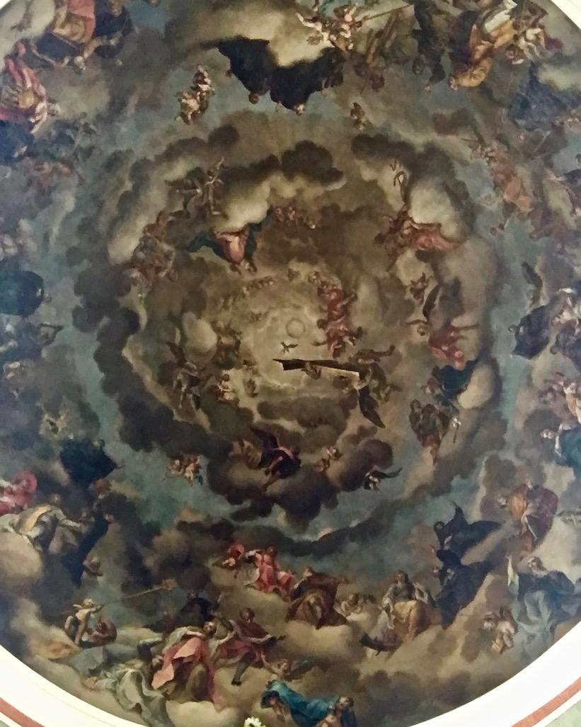 Stiftskirche Deckengemälde in der Kuppel St.Gallen Schweiz