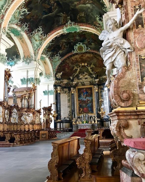Stiftskirche St.Gallen Schweiz Weltkulturerbe Chorgestühl