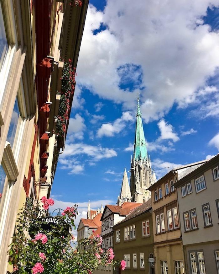 Türme der Marienkirche in Mühlhausen
