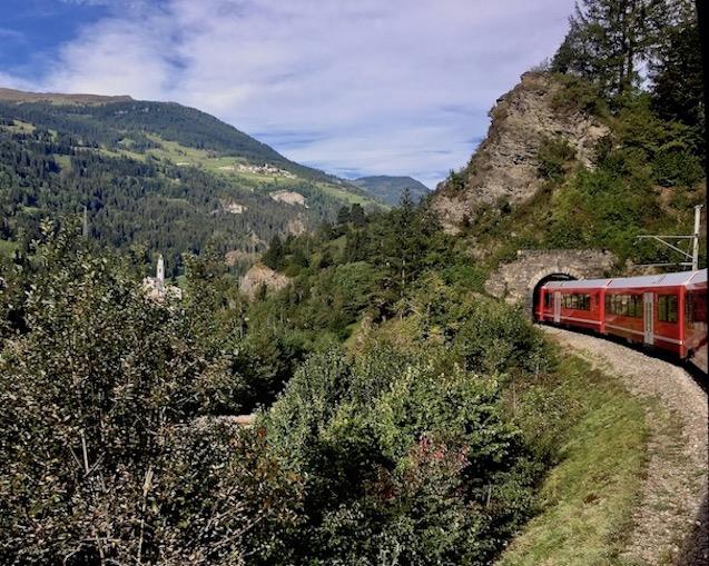 Tunnel der Albulabahn Weltkulturerbe Schweiz