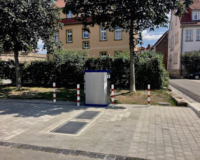 Versorungsstation am Wohnmobilstellplatz Engelsgarten