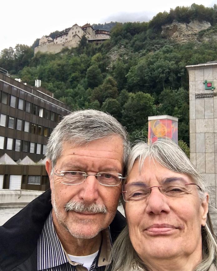 Wir sind in Vaduz Schloß Vaduz Lichtenstein