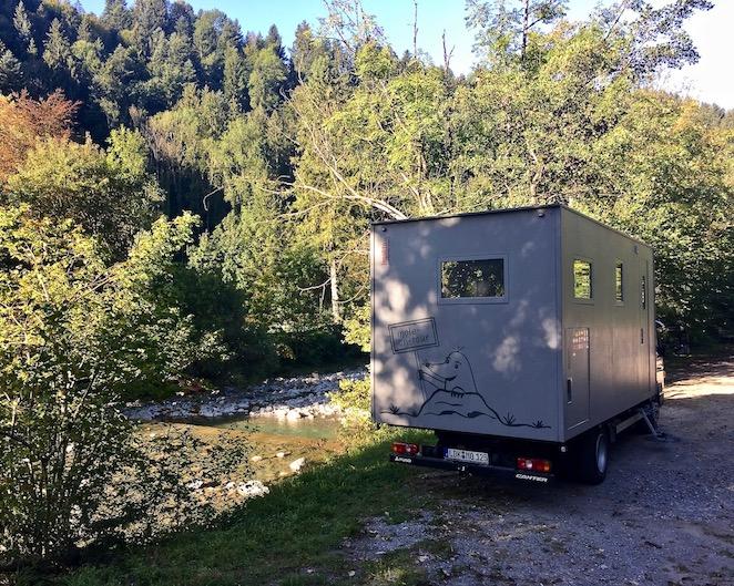 Wohnmobilstellplatz mole-on-tour Dornbirner-Ache Dornbirn Östereich
