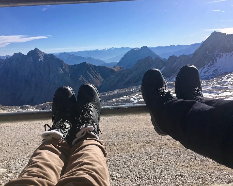 Aussicht vom Zugspitzplatt Zugspitze Deutschland