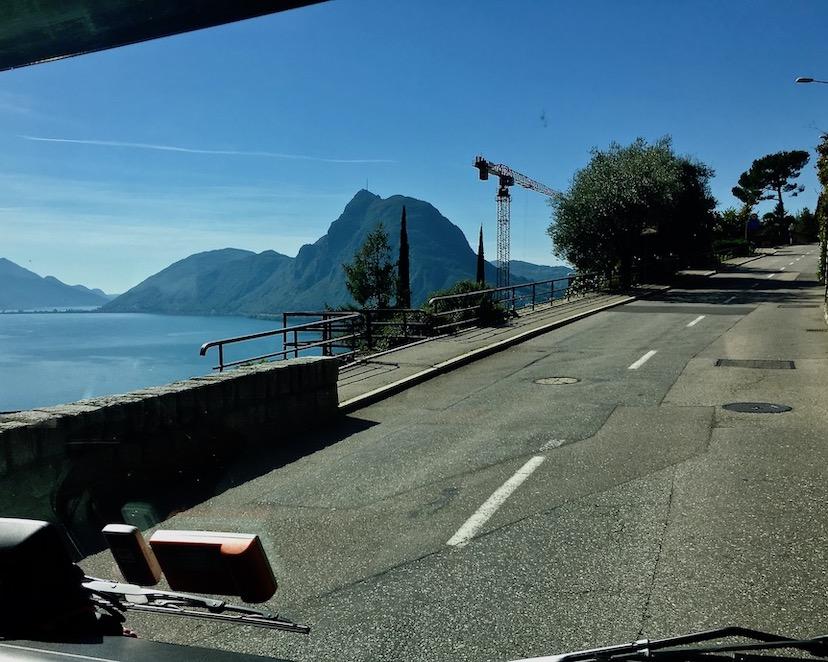 Blick auf den Zuckerhut von Lugano