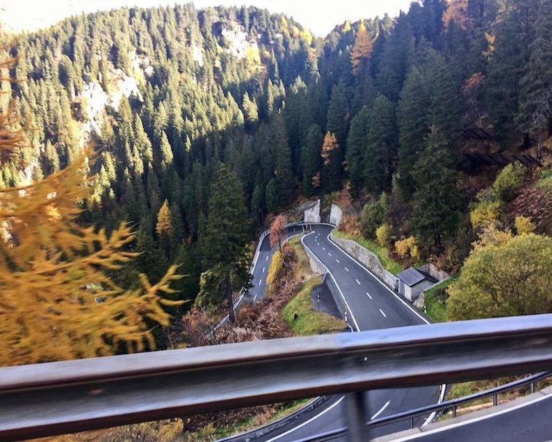 Blick zurück Malojapass Schweiz