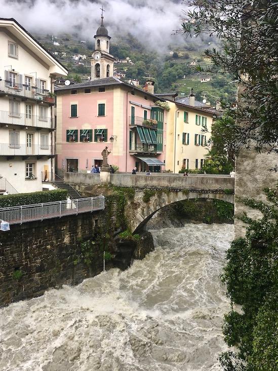 Brücke San Giovanni Nepomuceno Chiavenna Italien