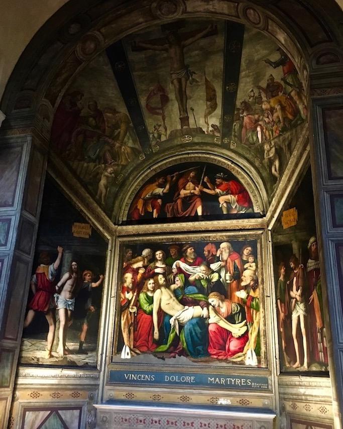 Chiesa di San Giorgio al Palazzo Mailand Italien Seitenaltar Passionskappelle Gemälde Bernardino Luini 1516