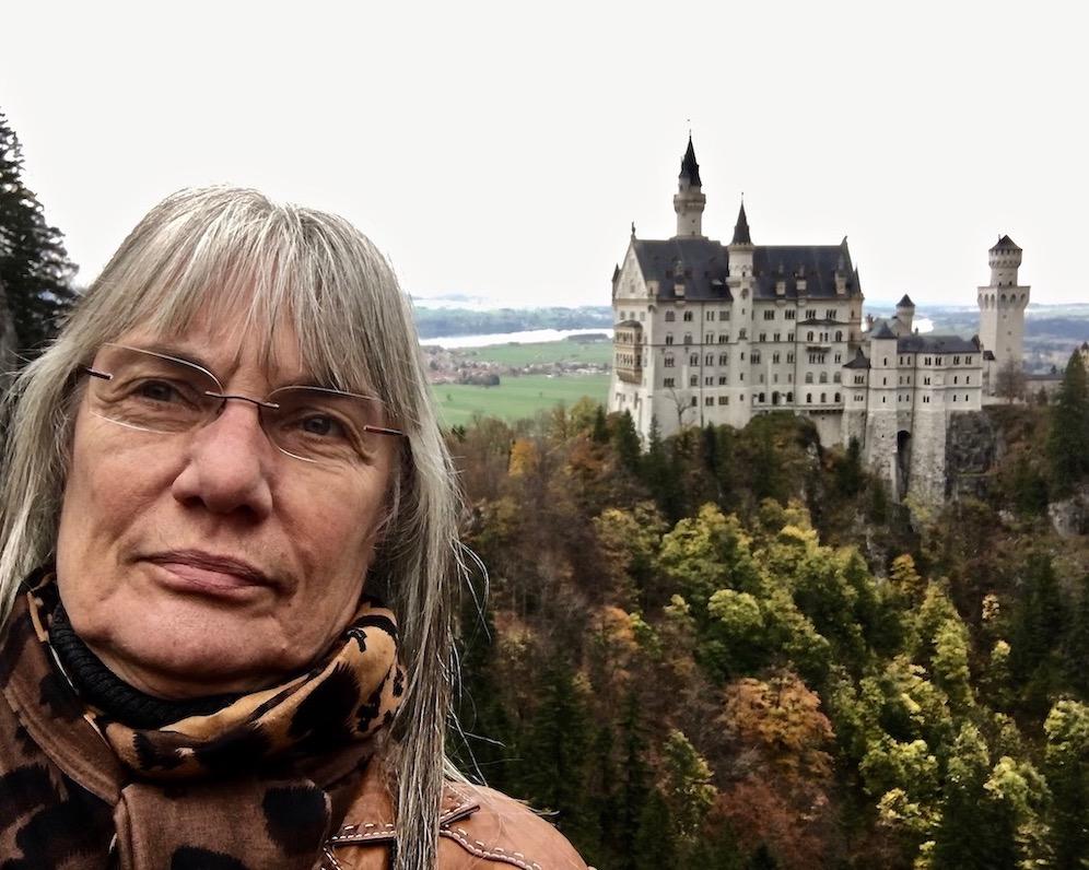 Christa mit Schloss Neuschwanstein Deutschland