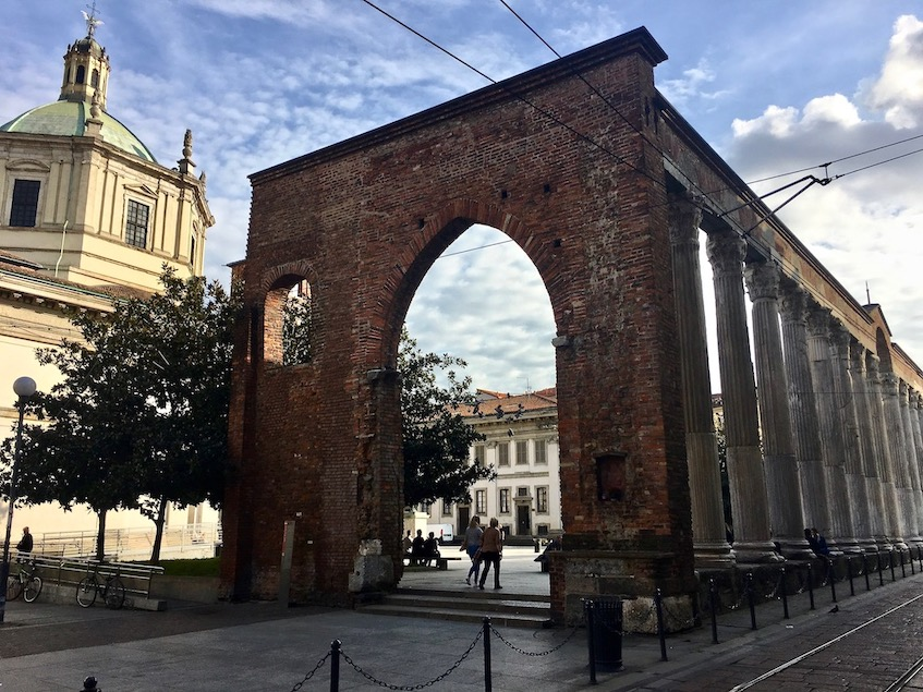 Colonne di San Lorenzo Säulen vor Basilica di San Lorenzo di Milano Mailand Italien