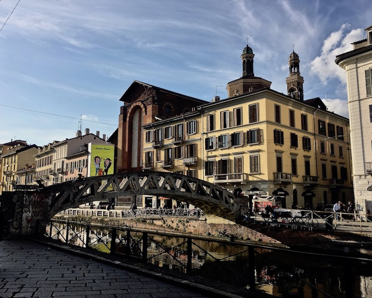 Darsena Viertel Kanal Naviglio Pavese Mailand Italien