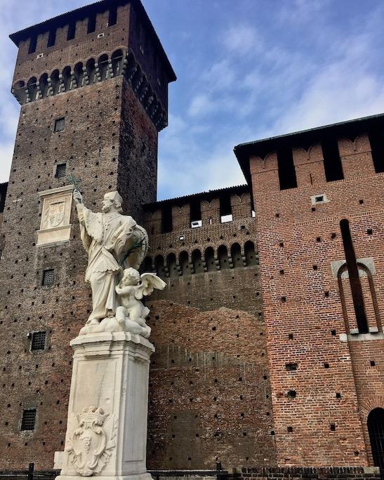 Denkmal San Giovanni Nepomuceno Castello Sforzesco Mailand Italien