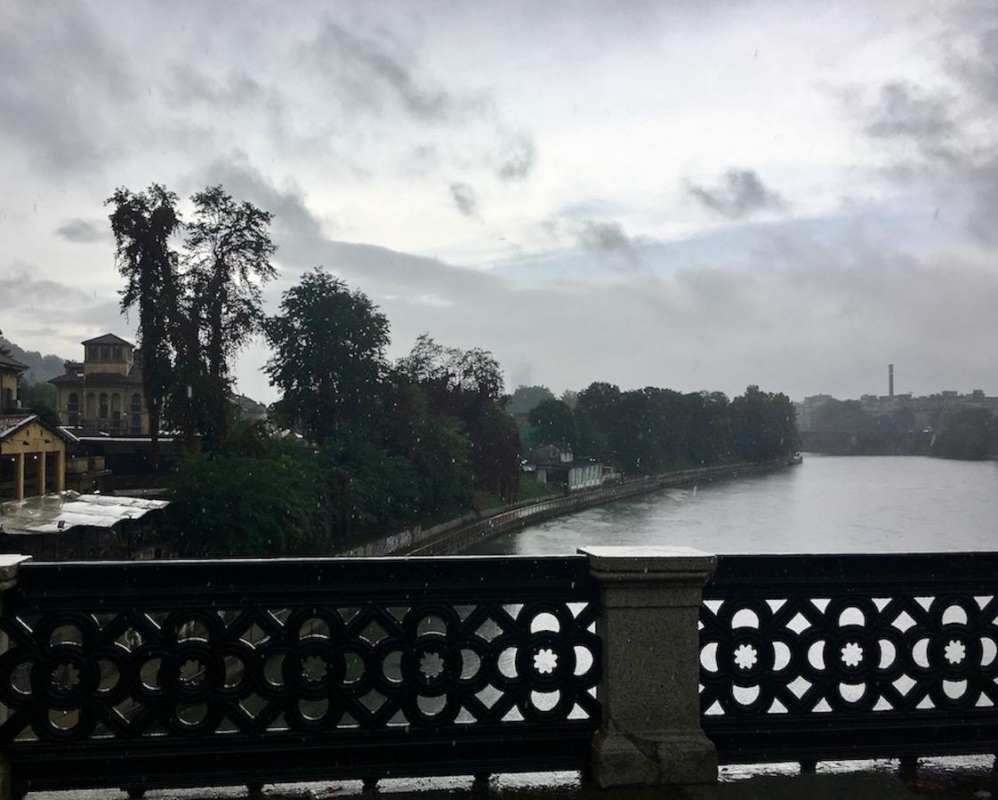 Der Po bei Turin Italien