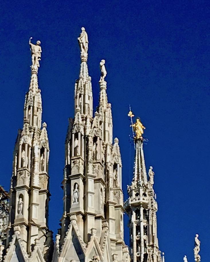 Duomo di Milano Mailänder-Dom Italien Vialen und Figuren Mailand Italien