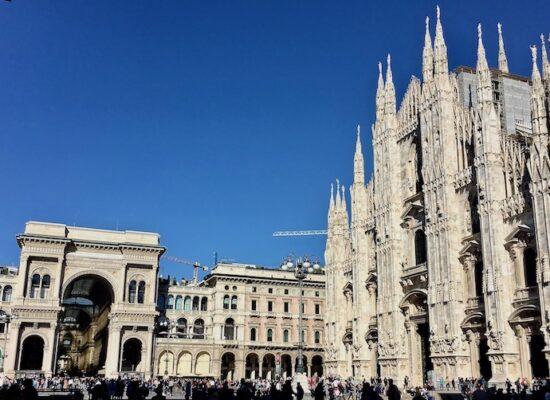 Mailand Italien Duomo di Milano Mailänder-Dom vor Galleria Vittorio Emanuele II Mailand Italien