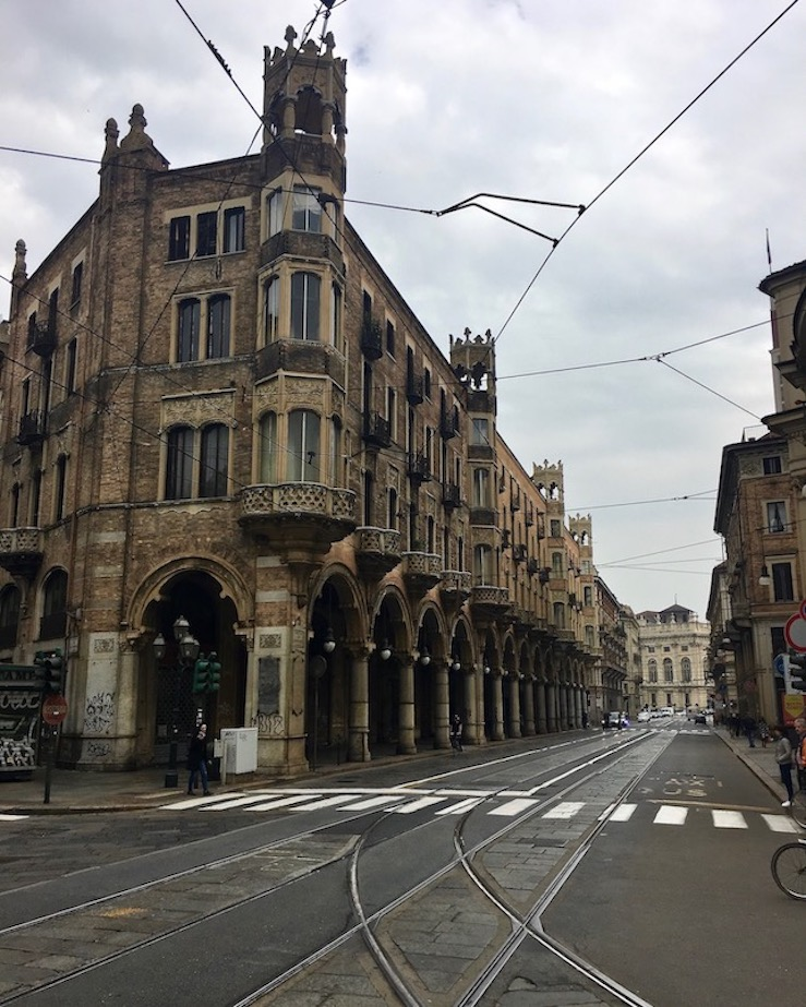 Ecke Via San Tommaso Via Pietro Micca Turin Italien
