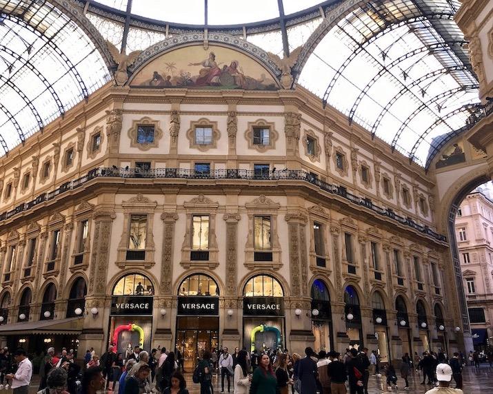 Galleria Vittorio Emanuele II Glaskuppel Mailand Italien