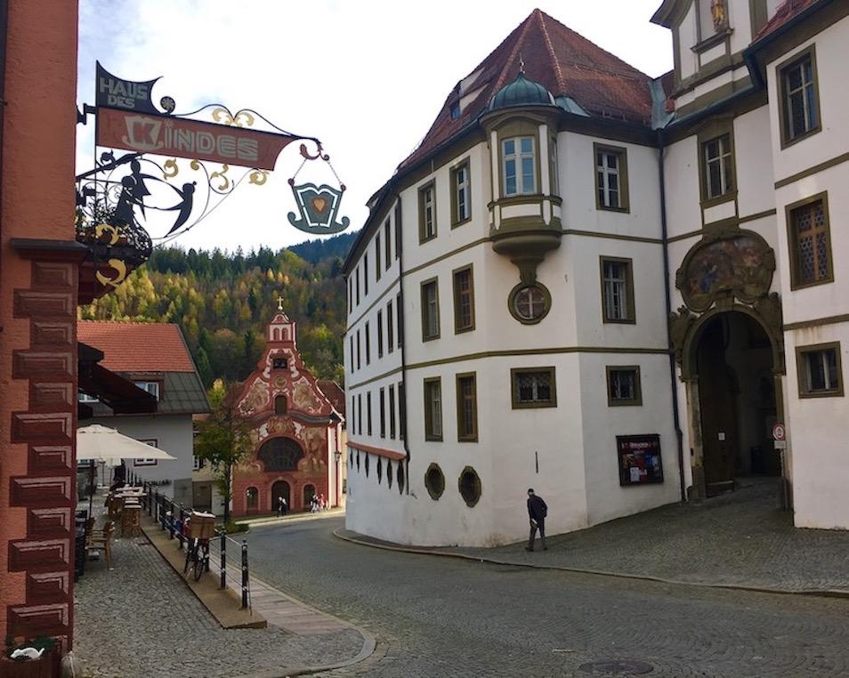 Heilig-Geist-Spitalkirche Altstadt Füssen Deutschland
