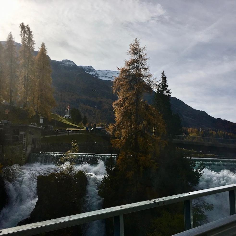 Innfall am Ausgang des St.Moritzsee Schweiz