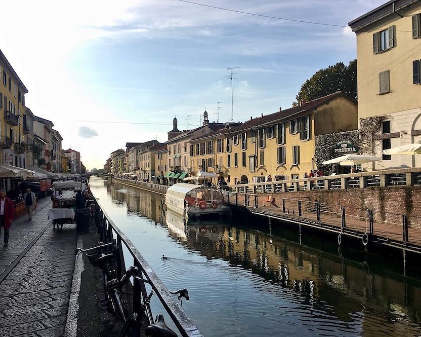 Kanal Naviglio Pavese Darsena Mailand Italien
