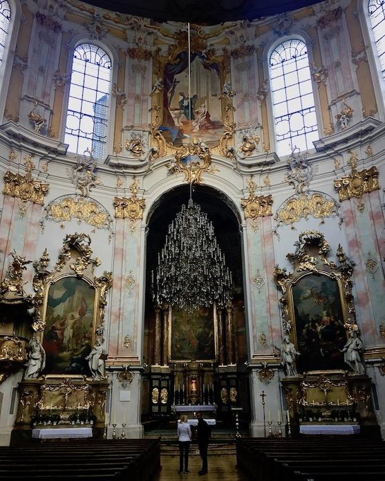 Kloster Ettal Innenraum Deutschlandhen Deutschland