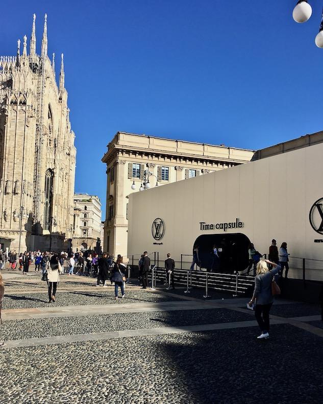 Louis Vuitton Time Capsule Exhibition Mailand Ausstellungspavillion